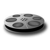 黑色短管轴磁带 免版税库存照片