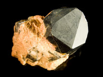 黑色石英晶体 免版税库存照片