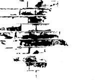 黑色砖例证白色 免版税库存照片