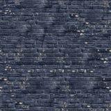 黑色砖墙纹理。 免版税库存图片