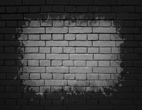 黑色砖墙纹理 图库摄影