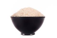 黑色碗米 免版税图库摄影