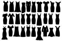 黑色礼服一点 免版税库存照片