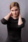 黑色礼服设计银 免版税库存照片