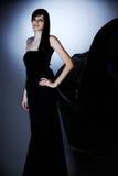 黑色礼服 免版税图库摄影