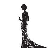 黑色礼服 免版税库存图片