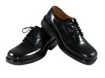 黑色礼鞋 库存图片