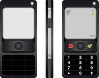 黑色移动电话 皇族释放例证