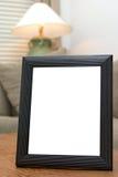 黑色空白框架照片 免版税库存照片
