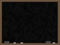 黑色空白黑板 免版税库存照片