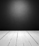 黑色空的内部白色 免版税库存图片