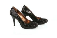 黑色穿上鞋子短剑 免版税库存照片
