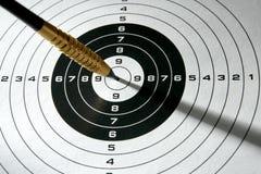 黑色箭遮蔽目标白色 免版税库存图片