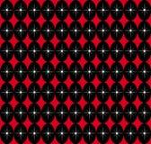 黑色红色无缝 免版税库存照片