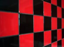 黑色红色瓦片 免版税库存照片