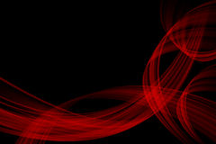 黑色红色通知 库存例证