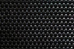 黑色纺织品纹理 免版税库存图片