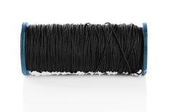 黑色线程数短管轴 免版税库存照片
