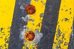 黑色线路主街上黄色 免版税库存图片