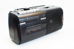 黑色经典查出的收音机 库存照片