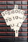 黑色编号纸张白色 免版税库存照片