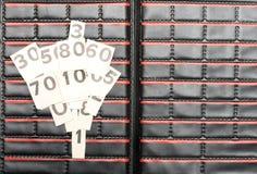 黑色编号纸张白色 免版税图库摄影
