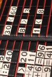 黑色编号纸张白色 免版税库存图片