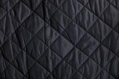 黑色缝制的织品背景 免版税库存照片