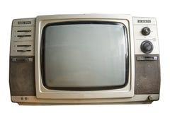 黑色老电视白色 免版税库存图片