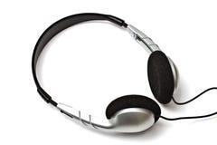 黑色耳机 免版税图库摄影