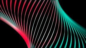 黑色背景下霓虹线的美丽抽象与色彩转换 动画 摘要 库存例证