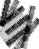 黑色胶卷软片白色 图库摄影