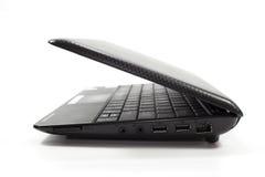 黑色膝上型计算机netbook 免版税库存图片