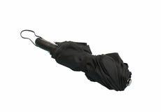 黑色自动伞关闭了 库存图片
