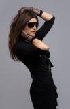 黑色舞蹈演员礼服当事人 免版税库存照片