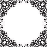 黑色花卉框架 免版税图库摄影