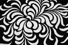 黑色花卉模式打印 免版税库存照片