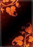 黑色花卉模式 免版税库存图片