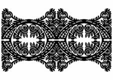 黑色花卉装饰 库存图片