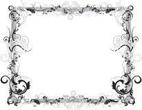 黑色花框架白色 库存图片