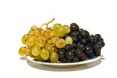 黑色葡萄白色 免版税库存图片