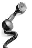 黑色葡萄酒电话机 库存照片