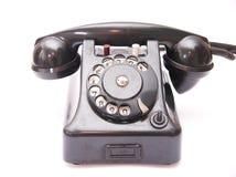 黑色葡萄酒电话 免版税库存图片