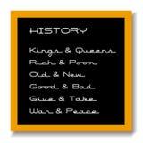 黑色董事会教育历史记录 皇族释放例证