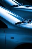 黑色蓝色汽车 免版税库存照片