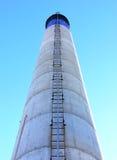 黑色蓝色烟囱梯子白色 库存图片