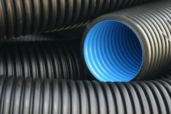 黑色蓝色管道 免版税库存照片
