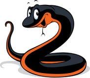黑色蛇动画片 库存例证