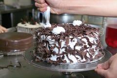 黑色蛋糕森林做 免版税库存图片