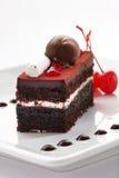 黑色蛋糕森林片式 图库摄影